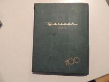 Goliath 1100 Werkstatthandbuch Manuel d`atelier Repair shop service manual 1957