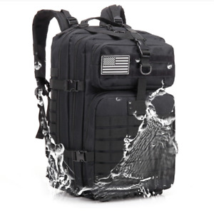 45L Military Tactical Backpack Rucksack Hiking Sport Camping Outdoor Travel Bag