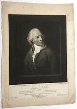 1802 large mezzotint French poet Jacques Delille, William Richardson, engraver