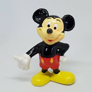 Vintage Mickey Mouse Holding Hand Out PVC Figure Disney Cake Topper Hong Kong