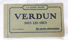 Vintage verdun france la guerre sous les obus postcard book set of 17