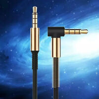 1M 3.5mm Jack Audio Cable Adapter Male To Male 90 Degree Right Angle Flats Aux