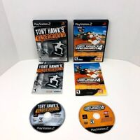 Tony Hawks Underground and Pro Skater 4 Sony PlayStation 2 PS2 Complete Lot Of 2