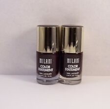 Lot of 2 Milani Color Statement Nail Polish Lacquer in 41 MODERN ROUGE