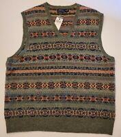 Polo Ralph Lauren Fair-Isle Cashmere/Lambswool/Alpaca Vest Sz XXL [NEW W/TAGS]