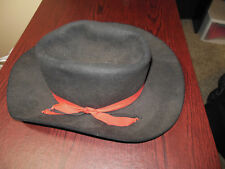 Vintage Royal 5 XXXXX Beaver Quality Black Cowboy Hat Red Band Size Unknown