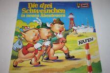 """DIE DREI SCHWEINCHEN in neuen Abenteuern Hörspiel Vinyl G 12"""" LP EUROPA 115068.5"""