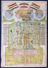 China 1923 Peking ( Pekin , Beijing ) Map, NOT Reproduction, Antique Original