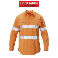 Mens Hard Yakka Koolgear Long Sleeve Work Shirt Hi-Vis Taped Lightweight Y07996
