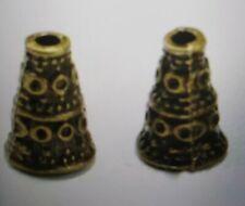 10 Pcs 10x 7mm Bronze Cone Bead Caps