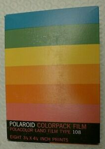 Polaroid 108 ColorPack Polacolor Instant Film Pack Sept 1972 Exp Date NOS