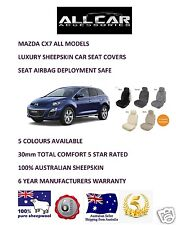 Sheepskin Car Seatcovers for a Mazda CX7, 5 colours, Seat Airbag Safe, 30mm TC