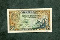 BILLETE  5 PESETAS 1940   SERIE H6718528  SC