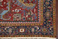 Antique Heriz Serapi Area Rug All-Over Oriental Vegetable Dye Wool 7x10