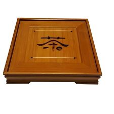 "Bamboo GongFu Tea Serving Tray L9"" x W9"" x H1.5"""