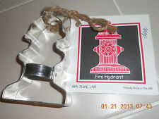 New LARGE  Metal COOKIE CUTTER recipe + frosting  FIRE HYDRANT firemen