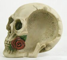 SKULL & ROSE ASHTRAY Trinket Tray Dish NEW Horror Halloween Cigarette Holder