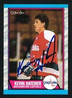 Kevin Hatcher #146 signed autograph auto 1989-90 O-Pee-Chee Hockey Card