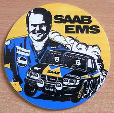 SAAB EMS Stig Blomqvist Rally Race Retro Motorsport Sticker / Decal