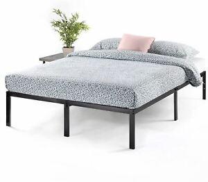 Best Price Mattress 14 Inch Metal Platform Beds w/ Heavy Duty Steel Slat Mattres