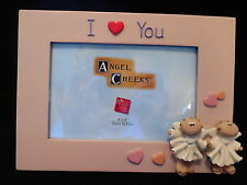 Angel Cheeks Picture Frame Russ Berrie Collectible Pink I Heart You New With Box