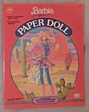 Vintage Golden 1990 Barbie Paper Doll New Unused