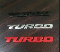 1x RED, BLACK OR SILVER 3D METAL TURBO LOGO TRUNK REAR EMBLEM BADGE ADHESIVE
