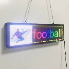 """New Scrolling Display Text Image Board Indoor SMD RGB 21""""x6"""" LED Business Sign"""