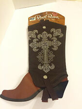 BootRoxx Womens Hope Boot Cover Brown (Small 7-8 1/2)