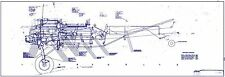 Naval Aircraft Factory N3N Canary Biplane Blueprint Plans RARE Historic WW2