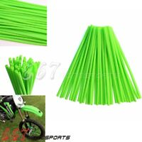 Supermotor Spoke Coats MX Green Spokes Skins Covers Wheels Rims Wraps 36Pcs