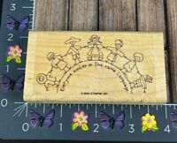 Stampin' Up! Everyone Smiles In The Same Language Children Rubber Stamp #J100