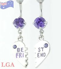 Ring Jewelled Bff 2 Belly Bars C Best Friends Crystal Dangle Belly Bar Naval