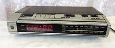 Vtg 70s General Electric GE Alarm Clock Radio 7-4634b Tested Working Wood Grain