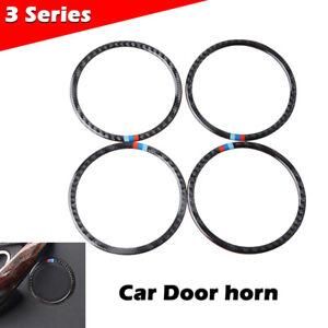 Real Carbon Fiber Speaker Ring Cover Trim Decor For BMW 3 4 Series F30 F34