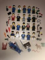 Lego Minifigure Town / City People + Tons Of Accessories - Lot EE