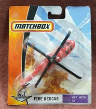 MATCHBOX SKY BUSTERS FIRE RESCUE HELICOPTER TOY METAL IN BOX