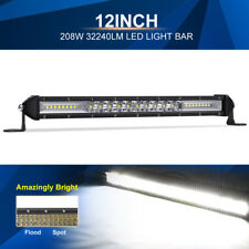 "12""INCH 208W LED Light Bar Single Row Flood Spot Beam Offroad Truck UTV US Ship"