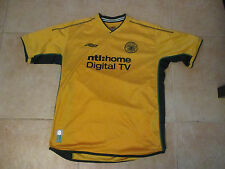 VINTAGE UMBRO CELTIC F.C. FOOTBALL/SOCCER YELLOW LARGE JERSEY 2000-2002 KIT