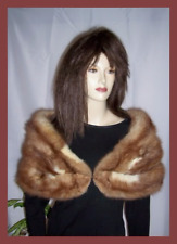 Stone Marten Sable Fur Stole Shawl Wrap Cape Jacket