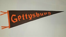 "EARLY 1900's  ANTIQUE ORANGE & BROWN ""GETTYSBURG"" FELT BANNER PENNANT"