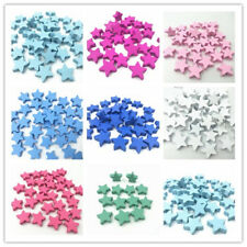 50pcs Wooden Bead Star shape forNecklace Jewelry Making