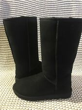 UGG Classic Tall II Black Water-resistant Suede Sheepskin Boots Size 7  Womens