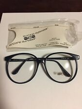 Vintage New Europa Marcia Navy Blue Plastic Glasses 56-16-140
