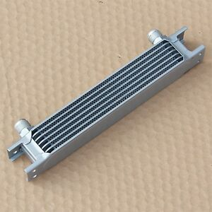 "Universal 7 Row AN10 7/8""-14 UNF Aluminum Engine Transmission Oil Cooler Silver"