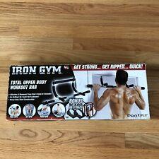 Iron Gym Original Total Upper Body Workout Bar  Black New Open Box