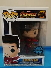 Funko Pop vinyl Avengers Infinity War Iron Man Unmasked Marvel exclusive figure
