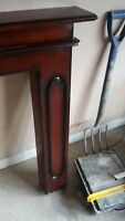 fire surround (solid mahogany )/mantlepiece