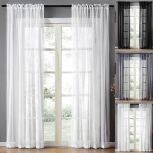 Transparent Ösenvorhänge Voile Kräuselband Gardine Vorhang Wohnzimme Fenster