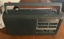Sony ICF-38 Dual Power AM/FM Radio-Portable Tested in Great Working Condition